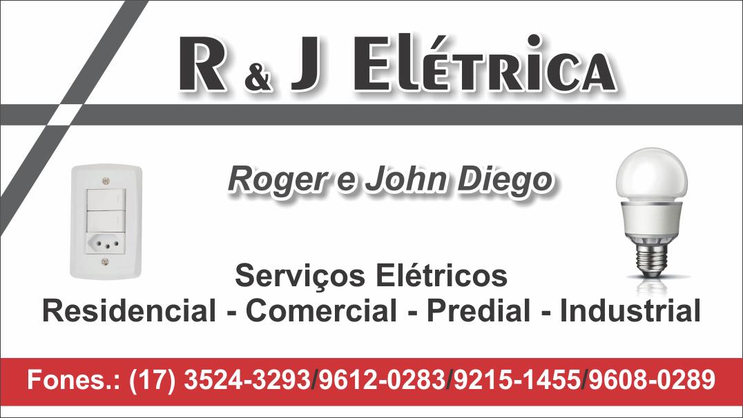 Excepcional Cartão de visita R e J Elétrica | Valdeir Gomes HX02